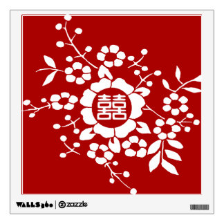 Paper Cut Flowers • Double Happiness Wall Decal