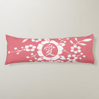 Paper Cut Flowers • Lovely Pink Body Pillow
