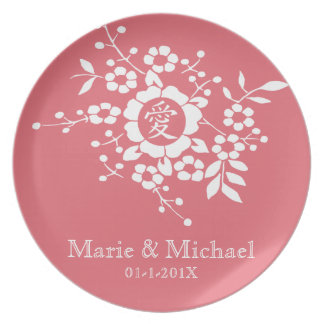 Paper Cut Flowers • Lovely Pink Dinner Plate