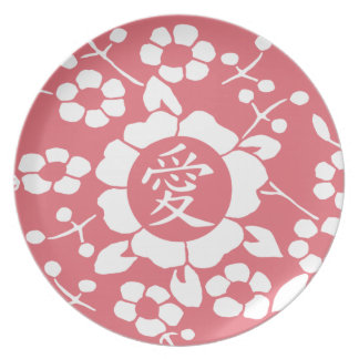 Paper Cut Flowers • Lovely Pink Party Plate
