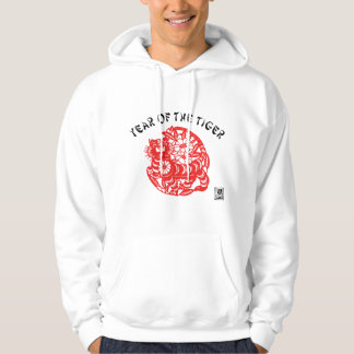 Paper Cut Tiger Hooded Sweatshirts