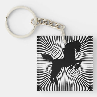 Paper Cut Unicorn Acrylic Key Chain