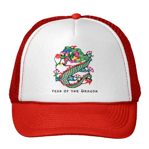 Paper Cut Year of The Dragon Gift Mesh Hats