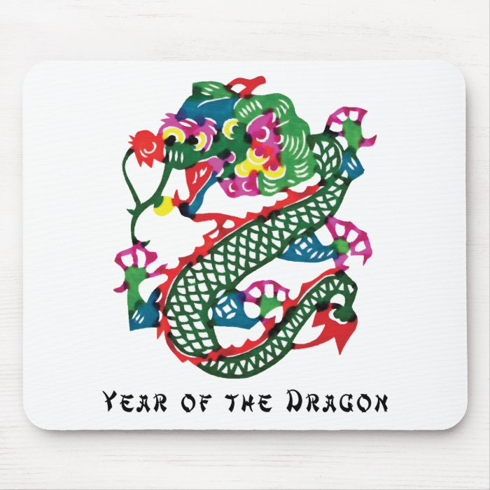 Paper Cut Year of The Dragon Gift Mouse Pad