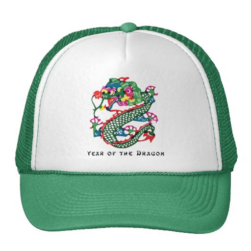 Paper Cut Year of The Dragon Gift Trucker Hats