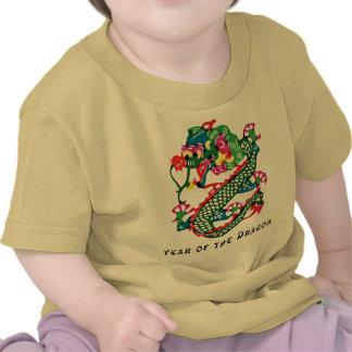 Paper Cut Year of The Dragon T-Shirt T Shirts