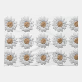 PAPER DAISY FLOWER DIGITAL REALISM SCRAPBOOKING NA TOWEL
