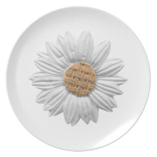 PAPER DAISY FLOWER DIGITAL REALISM SCRAPBOOKING NA DINNER PLATES