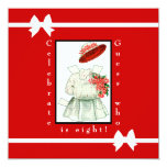 Paper Doll Birthday Party 5.25x5.25 Square Paper Invitation Card
