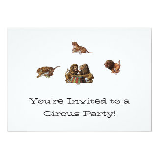 Paper Doll Circus Invitations