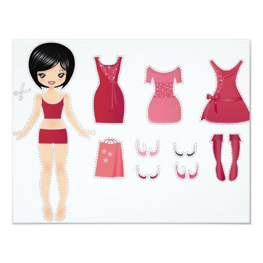 Paper doll cut card