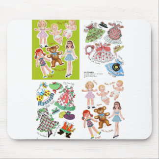 Paper Doll Fifties Design, Adorable Retro Mouse Pad