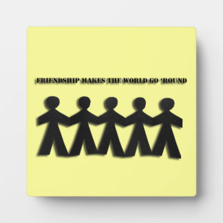 Paper Doll Friendship Plaque