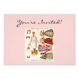 Paper Doll Invitations