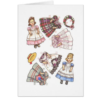 Paper Doll Note Card