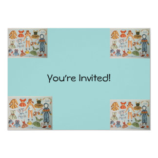Paper Doll Party Invitation