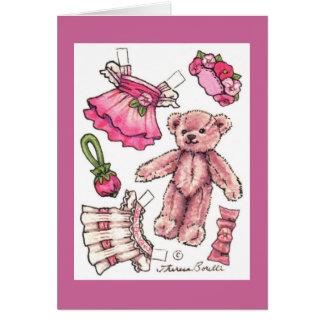 Paper Doll Teddy Blank Note Cards
