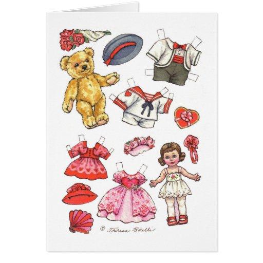 Paper Doll Valentine Card