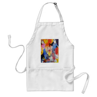 Paper Dolls A Painting by Connelly Adult Apron
