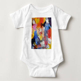 Paper Dolls A Painting by Connelly Baby Bodysuit