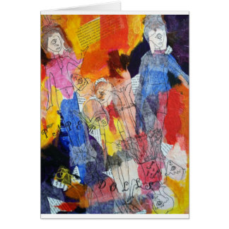 Paper Dolls A Painting by Connelly Greeting Card