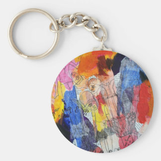 Paper Dolls A Painting by Connelly Keychain