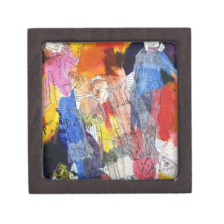 Paper Dolls A Painting by Connelly Premium Jewelry Box