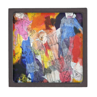 Paper Dolls A Painting by Connelly Premium Jewelry Boxes