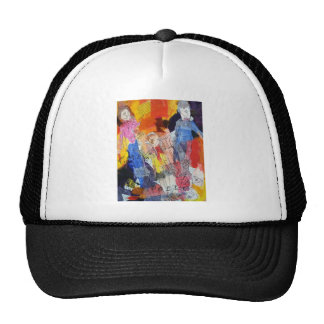 Paper Dolls A Painting by Connelly Trucker Hat