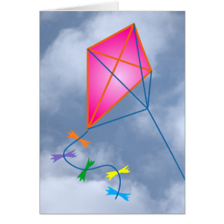 Paper dragon kite card