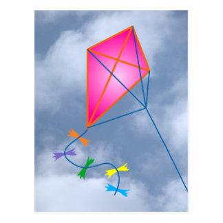 Paper dragon kite postcards