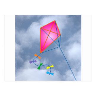 Paper dragon kite post cards