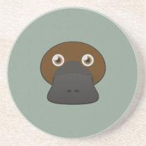 Paper Duck-Billed Platypus Sandstone Coaster