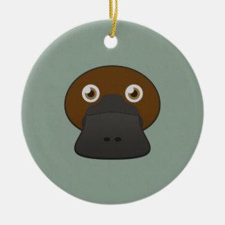 Paper Duck-Billed Platypus Ceramic Ornament