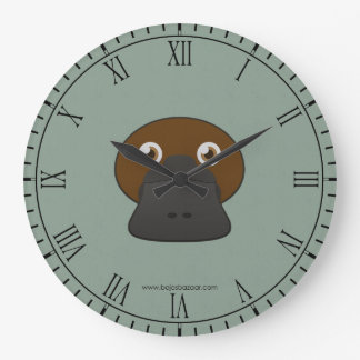 Paper Duck-Billed Platypus Large Clock