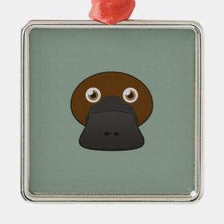 Paper Duck-Billed Platypus Metal Ornament