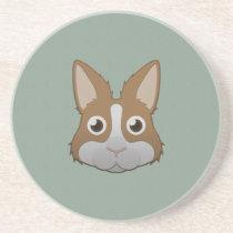 Paper Dutch Bunny Sandstone Coaster