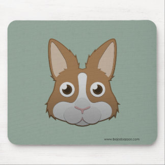 Paper Dutch Bunny Mouse Pad