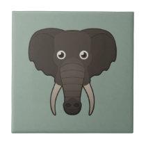 Paper Elephant Ceramic Tile