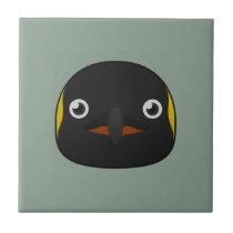 Paper Emperor Penguin Ceramic Tile
