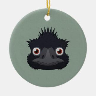 Paper Emu Ceramic Ornament