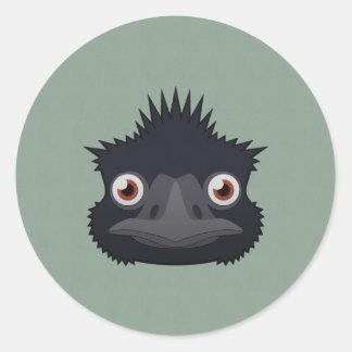 Paper Emu Classic Round Sticker
