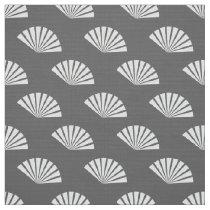 paper fans oriental pattern fabric