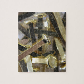 Paper fasteners office stationary jigsaw puzzle
