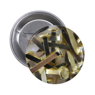 Paper fasteners office stationary pinback button