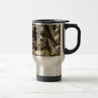 Paper fasteners office stationary travel mug