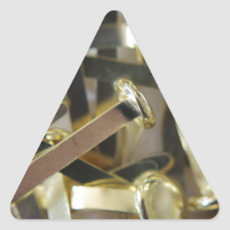 Paper fasteners office stationary triangle sticker