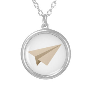 Paper flier PAPER flat Silver Plated Necklace