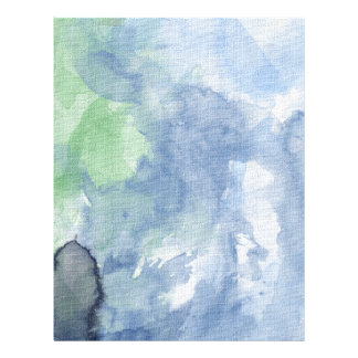 """Paper, Flowered Path Watercolor, Blue Sky 8.5"""" X 11"""" Flyer"""