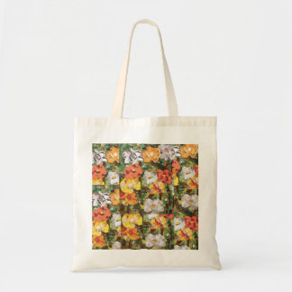 Paper Flowers Collage in yellow & Orange Tote Bag